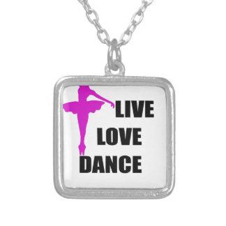 Colar Banhado A Prata amor da dança vivo
