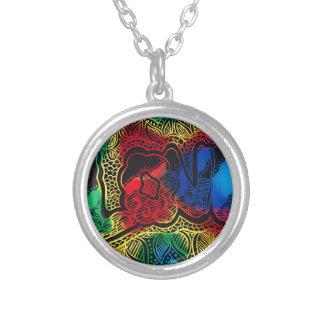 Colar Banhado A Prata Amor do arco-íris