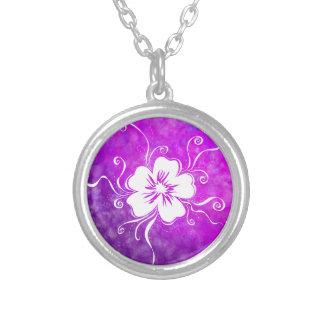 Colar Banhado A Prata Amor perfeito brincalhão - violeta vívida reversa