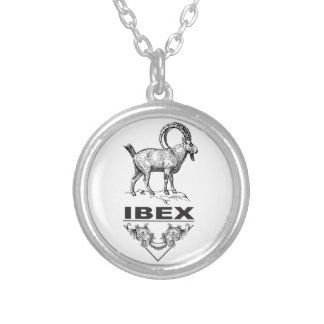 Colar Banhado A Prata Animal extravagante do íbex