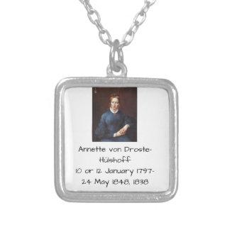 Colar Banhado A Prata Annette von Droste-Hulshoff 1838