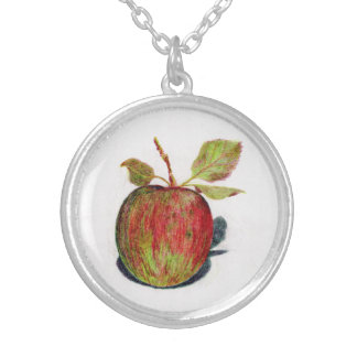 Colar Banhado A Prata Apple