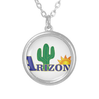 Colar Banhado A Prata arizona azul