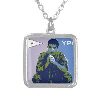 Colar Banhado A Prata Arte 3 do soldado 4 de YPG