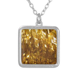 Colar Banhado A Prata Arte abstracta do teto do ouro