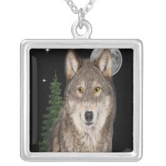 Colar Banhado A Prata arte do lobo