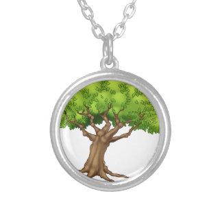 Colar Banhado A Prata Árvore dos desenhos animados