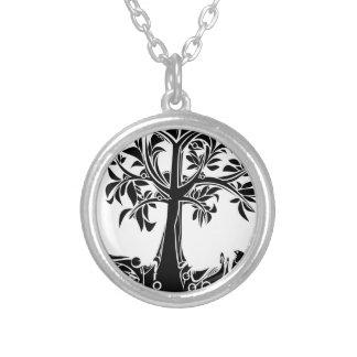 Colar Banhado A Prata Árvore mágica
