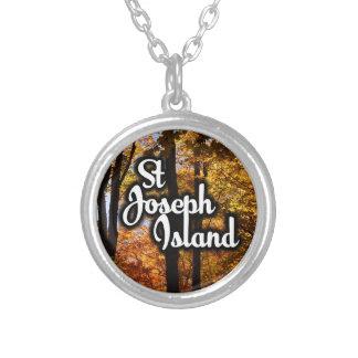 Colar Banhado A Prata Árvores de bordo da ilha de St Joseph
