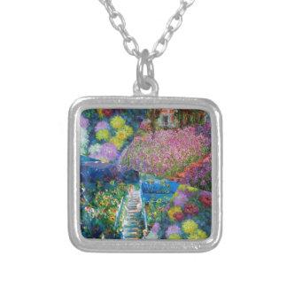 Colar Banhado A Prata As flores no jardim de Monet são originais