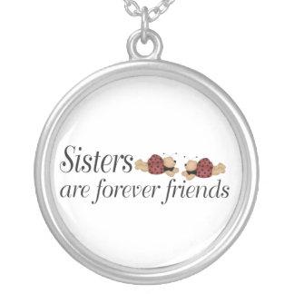 Colar Banhado A Prata As irmãs são para sempre amigos