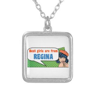 Colar Banhado A Prata As melhores meninas são de Regina