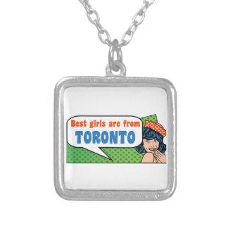Colar Banhado A Prata As melhores meninas são de Toronto