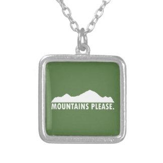 Colar Banhado A Prata As montanhas satisfazem