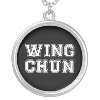 Colar Banhado A Prata Asa Chun