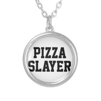 Colar Banhado A Prata Assassino da pizza
