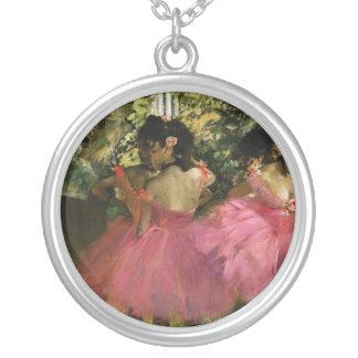 Colar Banhado A Prata Bailarinas no rosa por Edgar Degas