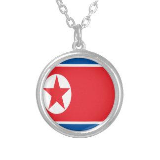 Colar Banhado A Prata Baixo custo! Bandeira da Coreia do Norte