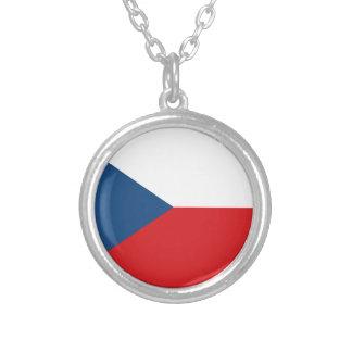 Colar Banhado A Prata Baixo custo! Bandeira da república checa