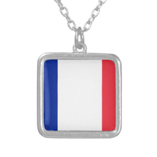 Colar Banhado A Prata Baixo custo! Bandeira de France