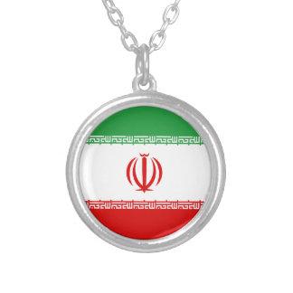 Colar Banhado A Prata Baixo custo! Bandeira de Irã