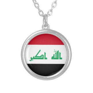 Colar Banhado A Prata Baixo custo! Bandeira de Iraque