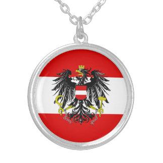 Colar Banhado A Prata Bandeira austríaca