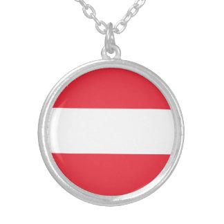 Colar Banhado A Prata Bandeira austríaca patriótica
