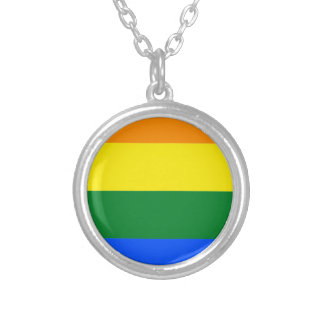 Colar Banhado A Prata Bandeira de Alabama LGBT