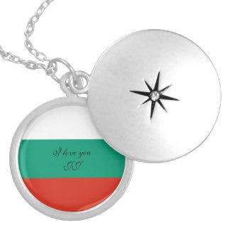 Colar Banhado A Prata Bandeira de Bulgária ou de búlgaro