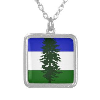 Colar Banhado A Prata Bandeira de Cascadia