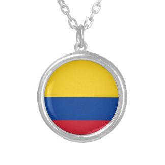 Colar Banhado A Prata Bandeira de Colômbia - bandera de Colômbia
