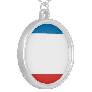 Colar Banhado A Prata Bandeira de Crimeia