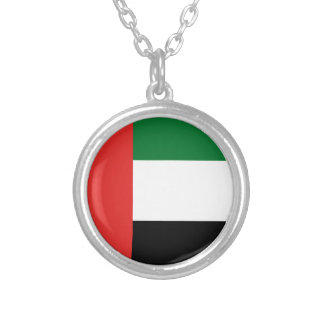 Colar Banhado A Prata Bandeira de Emiradosarabes