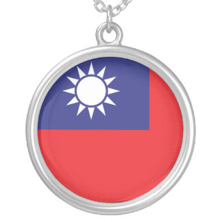 Colar Banhado A Prata Bandeira de Formosa