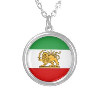 Colar Banhado A Prata Bandeira de Persia/Irã (1964-1980)