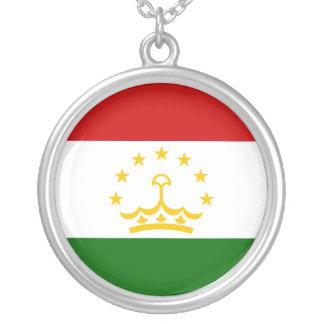 Colar Banhado A Prata Bandeira de Tajikistan