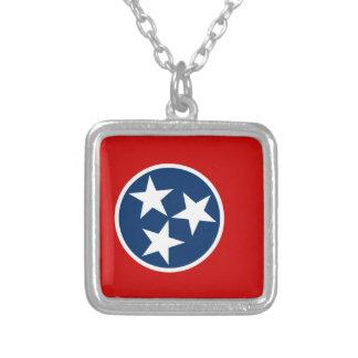 Colar Banhado A Prata Bandeira de Tennessee