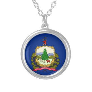 Colar Banhado A Prata Bandeira de Vermont