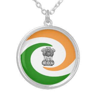 Colar Banhado A Prata Bandeira indiana