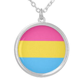 Colar Banhado A Prata Bandeira Pansexual do orgulho