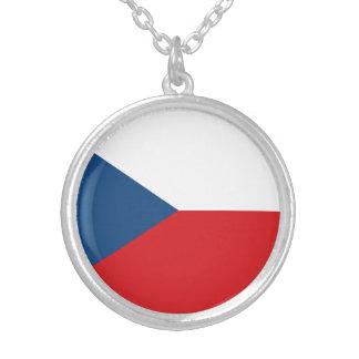 Colar Banhado A Prata Bandeira patriótica da república checa