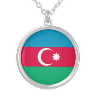 Colar Banhado A Prata Bandeira patriótica de Azerbaijan