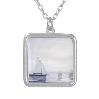 Colar Banhado A Prata Barcos de navigação - 3D rendem