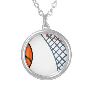 Colar Banhado A Prata Basketball2