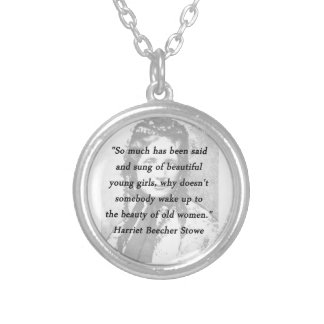Colar Banhado A Prata Beleza das mulheres adultas - Harriet Beecher
