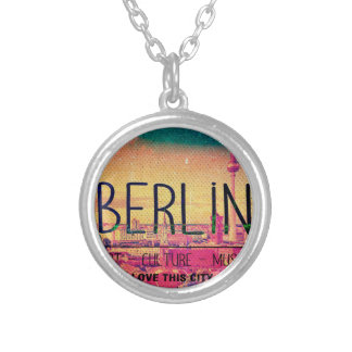 Colar Banhado A Prata Berlin, Love This City series, circle