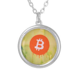 Colar Banhado A Prata Bitcoin