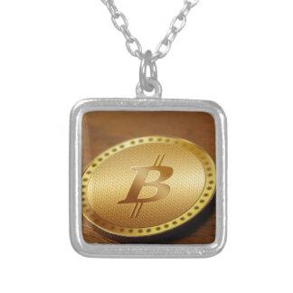 Colar Banhado A Prata Bitcoin 2