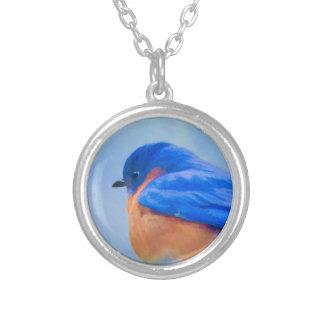 Colar Banhado A Prata Bluebird